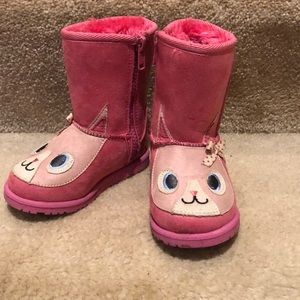 Other - Pink girls faux fur kitty boots